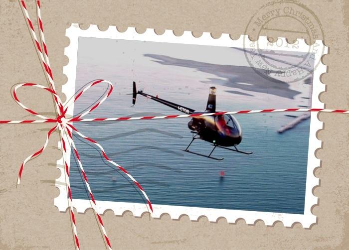 Idee regalo per Natale: tour panoramico in elicottero o in aereo